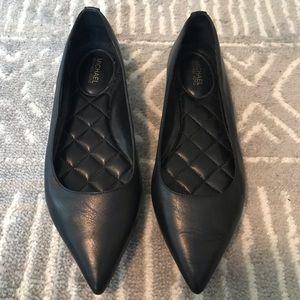 Michael Kors Black Leather Flat